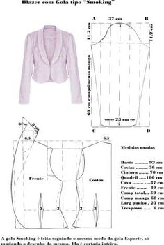 Amazing Sewing Patterns Clone Your Clothes Ideas. Enchanting Sewing Patterns Clone Your Clothes Ideas. Coat Patterns, Dress Sewing Patterns, Sewing Patterns Free, Clothing Patterns, Vogue Patterns, Vintage Patterns, Blazer Pattern, Collar Pattern, Jacket Pattern