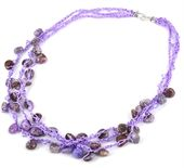 Crochet #Necklace app 55cm KIT Purple http://www.beadthemup.com.au/estore/category/bead%20inspired%20projects/necklace.aspx #craft #beads #DIY