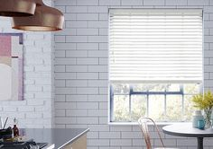 Give your home a warmer look with authentic wooden venetian blinds and enjoy a truly versatile and practical solution that's made to measure. Red Feature Wall, Day Night Blinds, Double Roller Blinds, Yellow Home Decor, Modern Blinds, House Blinds, Wood Grain Texture, Blackout Blinds, White Day