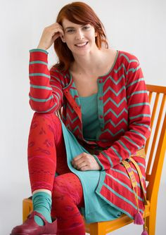 Long cardigan in eco-cotton – Gudrun's green choices – GUDRUN SJÖDÉN – Webshop, mail order and boutiques | Colorful clothes and home textiles in natural materials.