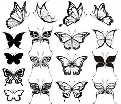 Nice Different Vector Butterfly Tattoo Designs