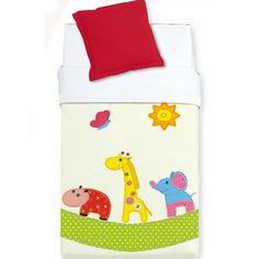 MANTA CUNA BABY HAPPY  Manta cuna modelo Baby Happy 702 que nos presenta la empresa Manterol.  Estas mantas tienen una gran calidad y un precio muy asequible. Su bebé dormirá calentito durante las frías noches de invierno. El diseño de la mantita encantará a toda la familia, sobre un fondo de color crema encontramos un hipopótamo, una jirafa y un elefante paseando alegremente.