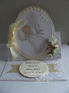 2 Christening cards . by: junescraftybits