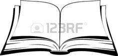 livre ouvert: Livre ouvert sur un fond blanc. Vector illustration.