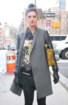 New York Winter Street Fashion | New York Street Style. Winter | sparkle is the new BLACK