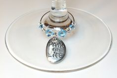 Wine Charms Yoga Themed Swarovski Crystals Set of by DesignsByJen1,