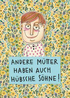 "Postkarte ""Andere Mütter haben auch schöne Söhne"" // postcard by LarifariLaden via DaWanda.com"