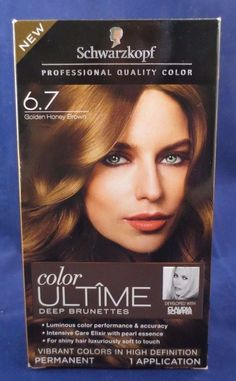 New In Box Sealed Schwartzkopf Hair Color Ultime 6 7 Deep Brunette Golden Honey Schwarzkopf