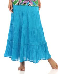 Look what I found on #zulily! Turquoise Peasant Skirt - Women & Petite by Le Mieux #zulilyfinds