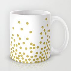 Gold polka dot Mug by cafelab - $15.00