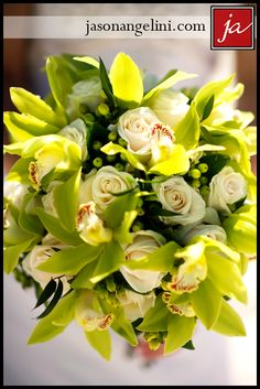 Orchid and roses bouquet