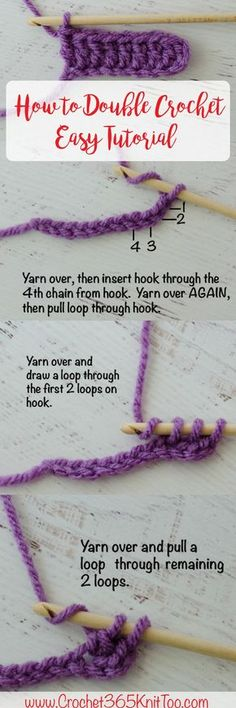 Double crochet step by step tutorial - this is awesome!