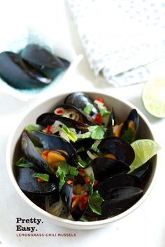 Lemongrass-Chili Mussels