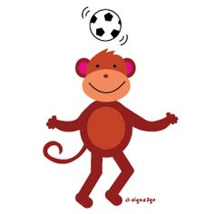 Monkey at Soccer Gifts