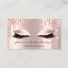 Makeup Artist Eyes Lashes Glitter Drips Rose Brown Business Card - Stand out from your competition. Gold Business Card, Makeup Artist Business Cards, Unique Business Cards, Business Card Design, Black Makeup Artist, Glitter Roses, Gold Glitter, Glitter Paint, Glitter Gifts