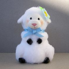 Lamb Flowerpot Ornament by SanquiCreations on Etsy