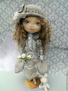 Кукла в винтажном стиле Джемма