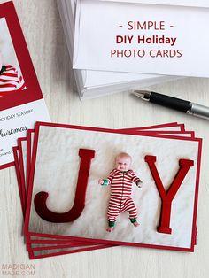 Love this! A Christmas Photo Idea for Baby (& Handmade Card)