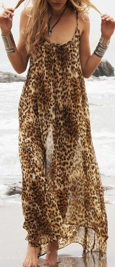 I'm not usually a leopard print kind of girl, but I really like this maxi dress.
