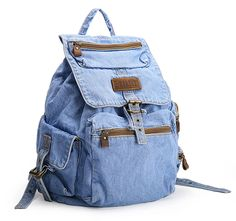 AI-NI-SI Women And Girls Preppy Style Denim Rucksack Back Packs * See this great product.