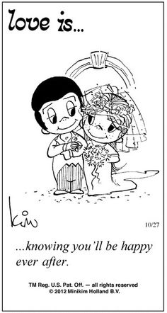 Love is. Number one website for Love Is. Funny Love is. pictures and love quotes. Love is. comic strips created by Kim Casali, conceived by and drawn by Bill Asprey. Everyday with a new Love Is. What Is Love, Love You, My Love, Wedding Couple Cartoon, Love Is Cartoon Couple, Love Is Comic, Cartoons Love, High School Sweethearts, Love My Husband