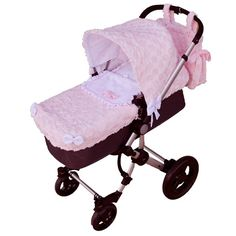Saco de coche o capazo universal Rosy Fuentes en rosa