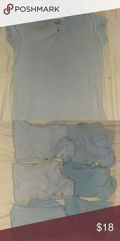 Set of 6 school uniform shirts size 7/8 Selling a set of 6 school uniform shirts,no stains,rips or holes gently used  short sleeve ,color is baby blue George Other
