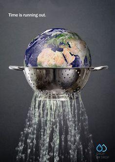 "Katherine Allison and Roni Samuels, United Kingdom, ""Time is running out"": Katherine Allison en Roni Samuels, Verenigd Koninkrijk, ""De tijd dringt"": Creative Advertising, Advertising Design, Ads Creative, Global Warming Poster, Environmental Posters, Save Environment, Save Our Earth, Creative Posters, We Are The World"