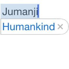 Sometimes #autocorrect makes me think. #jumanji #funny by momothistle