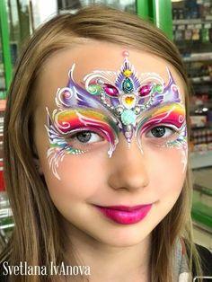 Princess Face Painting, Girl Face Painting, Mask Painting, Face Painting Designs, Body Painting, Face Painting Flowers, Face Art, Face And Body, Diy And Crafts
