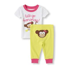 Everyone will go bananas when she wears this cute PJ set! (Children's Place 0-24m)