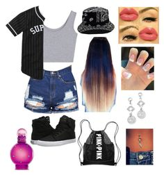 """""""Boy u got my heartbeat runnin away"""" by xoxo-123-132 ❤ liked on Polyvore featuring beauty, Supra, Victoria's Secret, BillyTheTree and Britney Spears"""