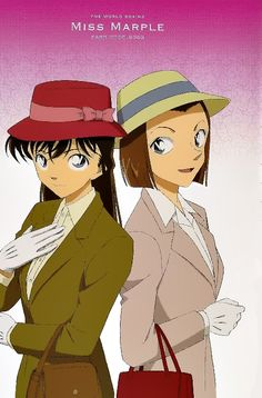 Ran & Sonoko as Miss Marple