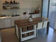 New Kitchen Furniture Cheap Dining Tables Ideas Kitchen Island Table Combination, Kitchen Island With Seating For 6, Counter Height Kitchen Table, Kitchen Table With Storage, Kitchen Island Dining Table, Diy Kitchen Island, Wood Counter, Kitchen Seating, Counter Tops