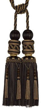 Tapin C Black Double Tassel Tiebacks - modern - window treatments - hong kong - Cheery Curtains