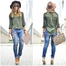 Resultado de imagen para blusa color verde militar