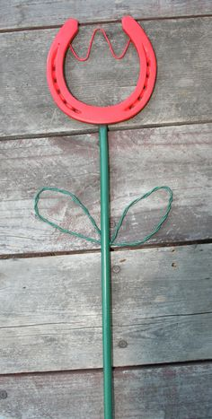 Horseshoe Flower by GarysCustomMetalwork on Etsy, $25.00