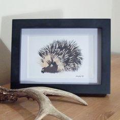 Little Hedgehog Illustration Print - £8. Available here; https://www.etsy.com/listing/117946098/little-hedgehog-illustration-print