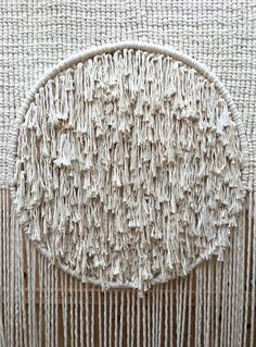 Detail of untitled macrame by Sally England