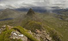 """Suilven, Lochinver, Assynt, Scotland, photo by Sven Broeckx. He says """"I had to walk 19.5 km (6 hours) to get this shot. Once on top, everything was shrouded in mist, so I had to wait 2 hours before I get this view during 2 minutes before mist came back, eliminating the view again. explored!"""" Just amazing"""
