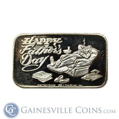 Buy Gold And Silver, Father's Day, Silver Rounds, 1 Oz, Happy Fathers Day, Holiday Gifts, Pure Products, Bar, Fathers Day