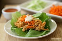 Crock Pot Buffalo Chicken Lettuce Wraps | Weight Watchers Recipes
