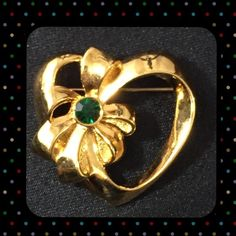 50% BUNDLE SALE Gorgeous Heart Vintage Brooch By Avon, vintage heart brooch. Vintage Jewelry Brooches