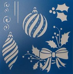 Etsy の Christmas Bits and Pieces Stencil by kraftkutz