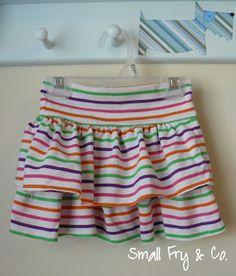 Small Fry & Co. : Ruffle T-Shirt Skirt