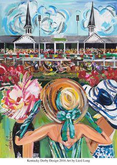 Kentucky Derby 2016 Print by ArtByLiesl on Etsy