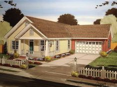 Craftsman House Plan with 1397 Square Feet and 3 Bedrooms from Dream Home Source | House Plan Code DHSW75056