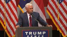 Republican vice presidential nominee Mike Pence is telling a North Carolina crowd that Donald Trump's politically incorrect style shows he's the genuine article and distinctly American. (Aug.…  #Trump #Trump2016 #DonaldTrump #Pence #Republican #PresidentialElection #Politics #HillaryClinton #Clinton2016 #Democratic #Democrat #Liberal #Conservative #JillStein #GreenParty