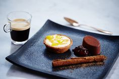 Nespresso Grand Cru Decaffeinato Intenso & Chocolate Cremeux, with Raspberry Gel