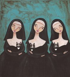 Nuns and Cats  www.etsy.com